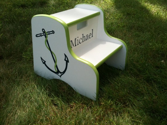 preppy nautical anchor step stool