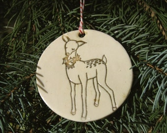doe porcelain ornament