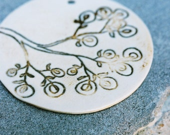 porcelain pendant - posey branch