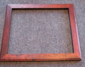 12x14 Spalted Yellow Birch Reddish brown dye Picture Frame
