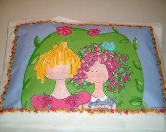 SALE  ----  Girlfriends Pillowcase - Great Birthday gift