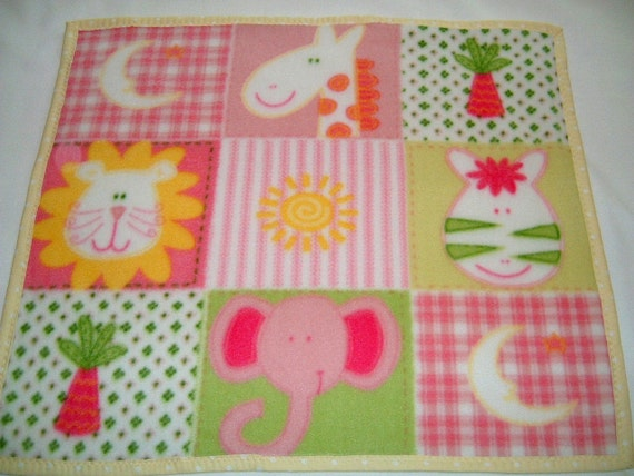 Just Reduced --Fleece Lovey/Security Blanket