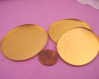 Brass Oval Bezel Cups 54x42