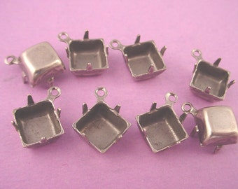 Silver Ox Square Prong Settings 8mm 1Ring CB