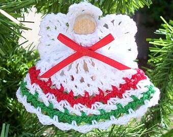 Crochet Clothespin Angel Ornament