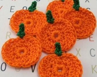 Crochet Pumpkin Appliques