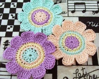 Crocheted Flower Appliques