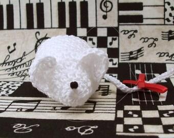 Crochet Mouse Ornament