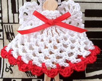 Crocheted Clothespin Angel Ornament
