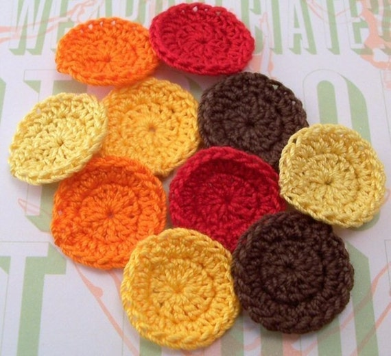 Crocheted Fall Circles - Set of 10