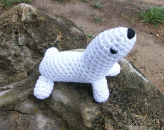 Toy Baby Harp Seal, Soft, Plush Amigurumi Toy Harp Seal, Amigurumi Animal, Sea Animal Seal, Gift for Kids, Toybox Toy Seal, Soft Toy Gift