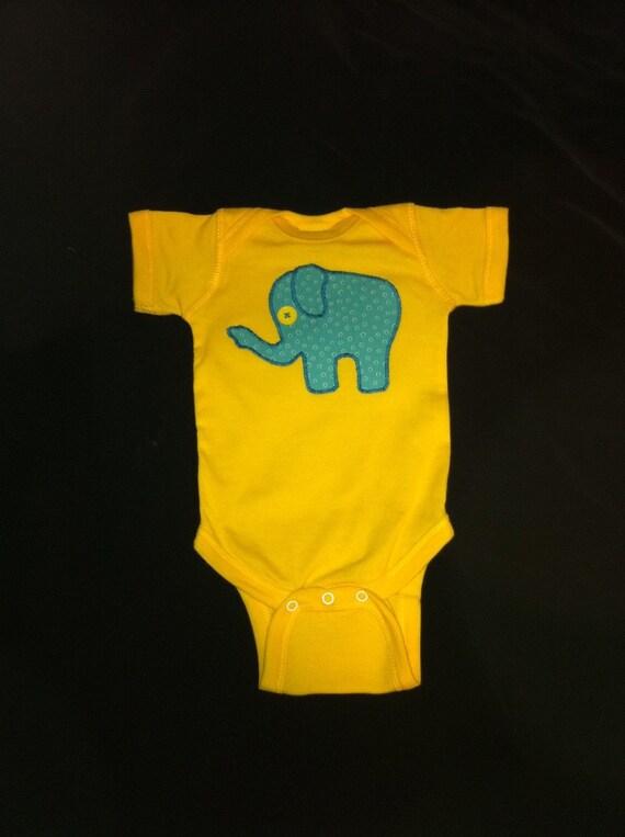 Yellow Elephant Onesie or T-Shirt