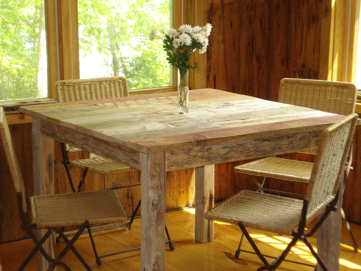 items similar to driftwood dining table 40 x40 x29 h on etsy