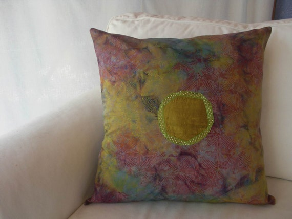 Tie Dyed 18 Inch Pillow Cover In Shades of Autumn