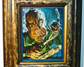 Original Framed Painting - The Wolfman