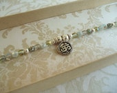 Shades of Green and OM Aum Charm Bracelet
