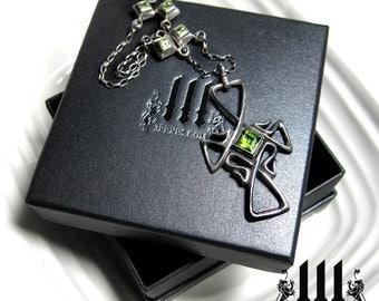 Large Black Jewelry Box, Necklace, Gift, Prestige