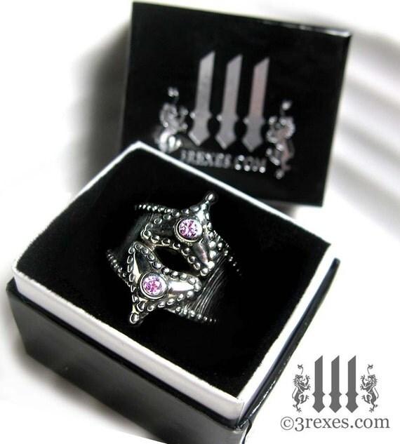 Ring Box, Black Wedding Engagement Gift Glam