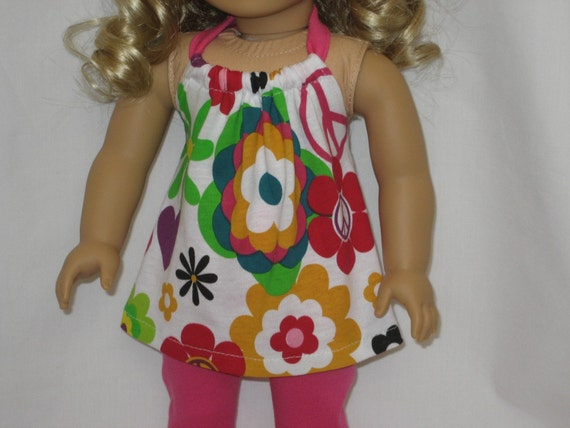 American Girl Doll Clothes - Bright Halter Top with Leggings