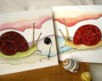 Snails - Pair of Archival Prints