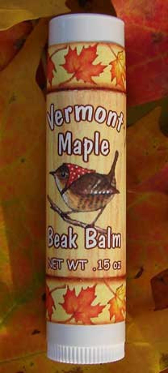 Vermont Maple Lip Balm, All Natural, .15 ounce Tube