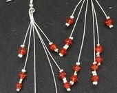 Red Starburst Glass Earrings