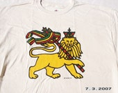 Lion Of Judah Natural T Shirt XL