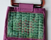 Purple Satin Mosaic Bag - SALE