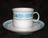 PICK YOUR SCENT - Custom Scented Soy Wax Candle in Vintage Blue and White China Demitasse (Espresso Cup)