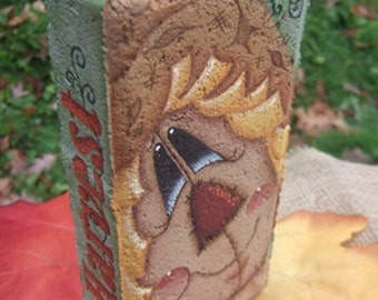 12003 Fall Harvest Scarecrow  Brick Pattern Oil Creek Originals