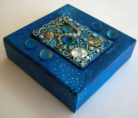Under the Sea Gallery wrapped Canvas Mixed Media
