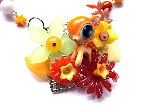 Kawaii deer Choker Gothic Lolita Orange