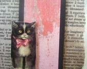 Collaged Kitty Cat Birthday Card