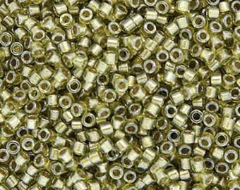 Miyuki Size 11/0 Delica Beads, Beige Chartreuse, DB908, 7.2 grams