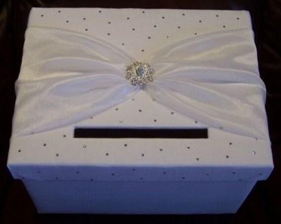 Wedding Gift Card Box Holder: Items Similar To Wedding Card Box