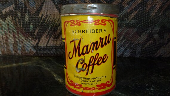 Manru Coffee Tin       Charming Kitchen Decor