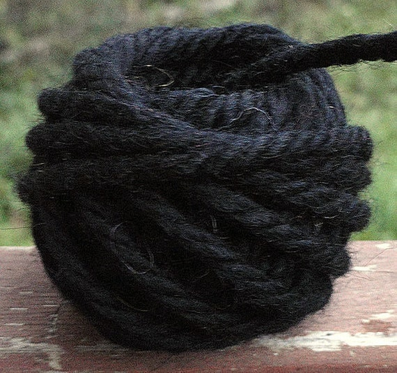 Primitive Wool Spun Doll Hair- Midnight Black