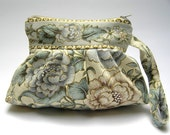 Romantic wristlet clutch French Tapestry