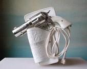 357 Magnum Hair Dryer.  Vintage Novelty Pistol Hairdryer Gun B