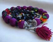 Secial Purple  Black Necklace