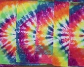 Set of 7 Days of The Week Tie Dyed Dish Towels