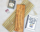 Cribbage Board - Solid Hickory (W1010-04)