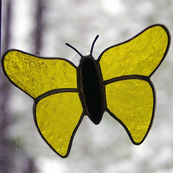 Stained Glass Butterfly (G1262 - Yellow)
