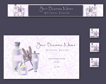Simply Lavender Bath and Body MINI Graphics Package Banner Avatar Business Card Plus 2 Free Avatars