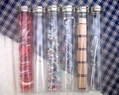 Plastic Tube Containers Set of 6 Nickel Screw Top