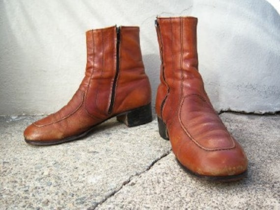 RESERVED FOR TYRION666 Caramel Beatle Boots--mens 9.5 D