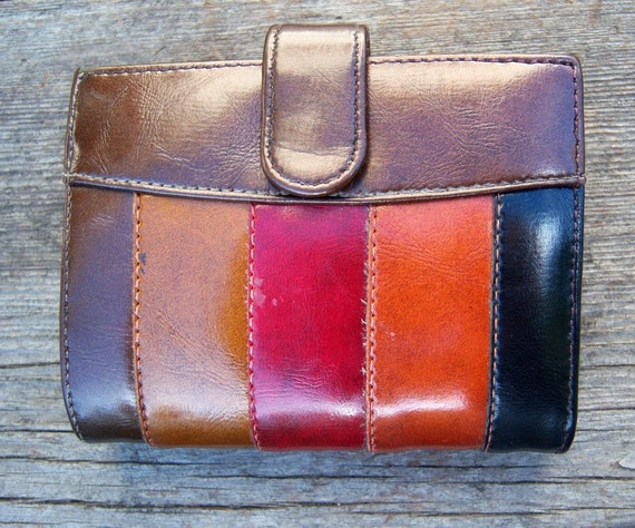 Mod Stripes Wallet/ BARONET /faux leather