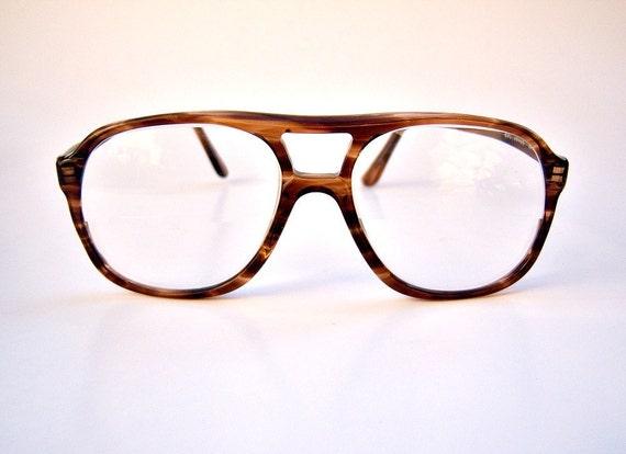 Vintage mens aviator eyeglasses // tortoise shell // 70s Diplomat