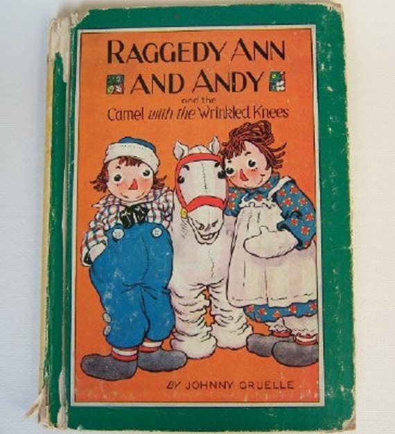 Vintage Raggedy Ann and Andy (1951) Johnny Gruelle children's book bedtime stories classics
