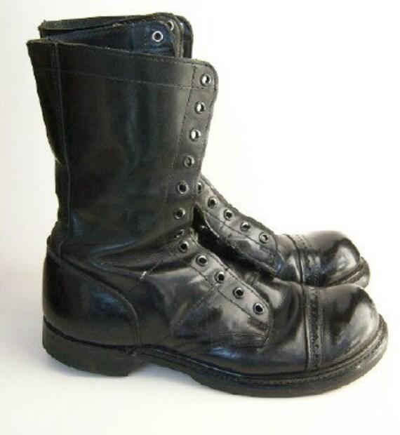 Vintage Black Military Jump Boots mens 7 1\/2D  womens 9